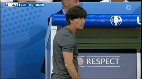 Joachim Löw – Deutschland v Ukraine (EM 2016) 1st half 12