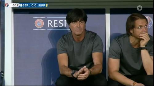Joachim Löw – Deutschland v Ukraine (EM 2016) 1st half 13
