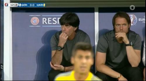 Joachim Löw – Deutschland v Ukraine (EM 2016) 1st half 15