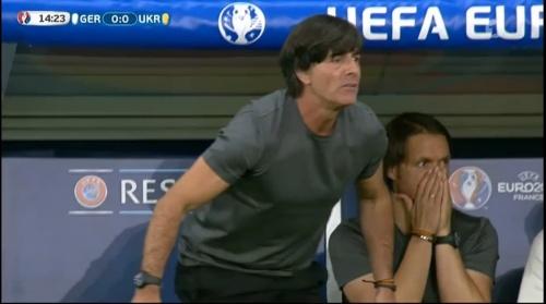 Joachim Löw – Deutschland v Ukraine (EM 2016) 1st half 18