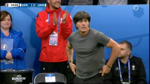 Joachim Löw – Deutschland v Ukraine (EM 2016) 1st half 20