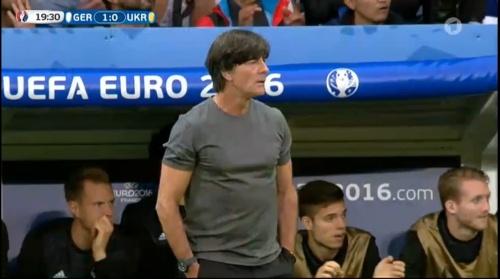 Joachim Löw – Deutschland v Ukraine (EM 2016) 1st half 22