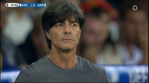Joachim Löw – Deutschland v Ukraine (EM 2016) 2nd half 4