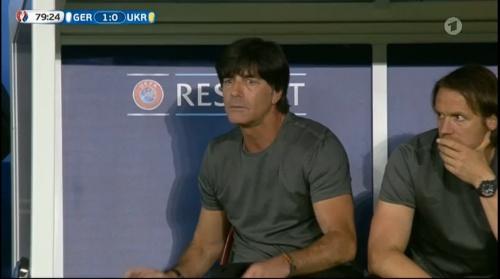 Joachim Löw – Deutschland v Ukraine (EM 2016) 2nd half 5