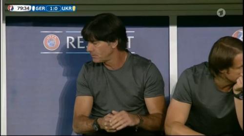 Joachim Löw – Deutschland v Ukraine (EM 2016) 2nd half 7
