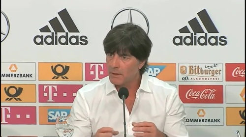 Joachim Löw – Deutschland v Ungarn PK 4
