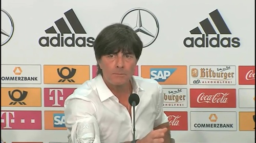 Joachim Löw – Deutschland v Ungarn PK 6