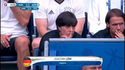 Joachim Löw – Nordirland v Deutschland 1st half (EM 2016) 8