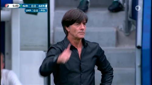 Joachim Löw – Nordirland v Deutschland 1st half (EM 2016) 9
