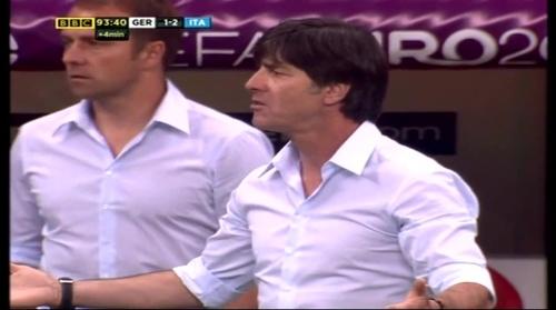Joachim Löw & Hansi Flick – Germany v Italy (2012) 4