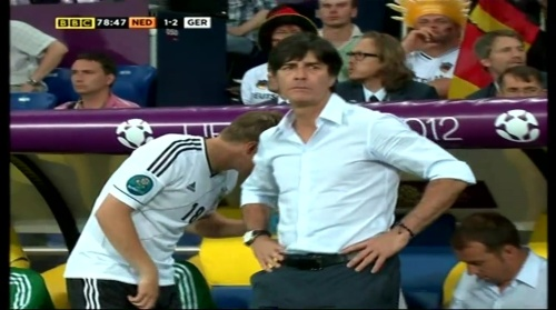 Joachim Löw & Hansi Flick – Holland v Germany (2012) 12