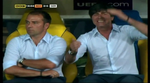 Joachim Löw & Hansi Flick – Holland v Germany (2012) 4