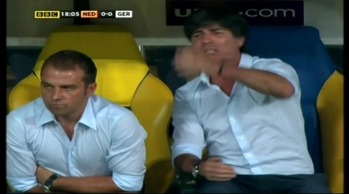 Joachim Löw & Hansi Flick – Holland v Germany (2012) 5