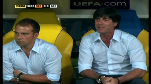 Joachim Löw & Hansi Flick – Holland v Germany (2012) 6
