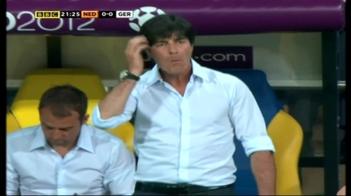 Joachim Löw & Hansi Flick – Holland v Germany (2012) 7