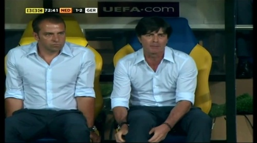 Joachim Löw & Hansi Flick – Holland v Germany (2012) 8