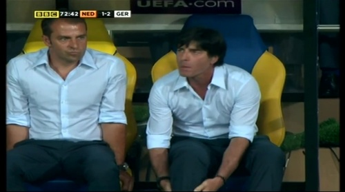 Joachim Löw & Hansi Flick – Holland v Germany (2012) 9