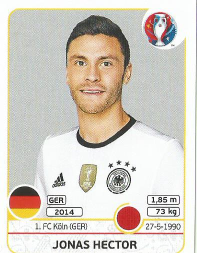 Jonas Hector - Germany - Euro 2016 sticker