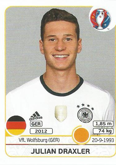 Julian Draxler - Germany - Euro 2016 sticker