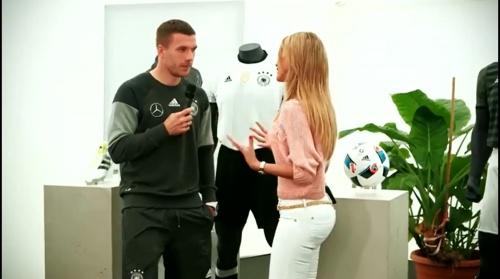Lukas Podolski - Mannschaft photo & Medientag
