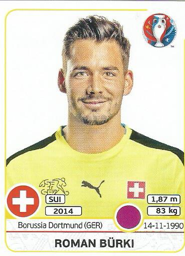 Roman Bürki - Switzerland - Euro 2016 sticker
