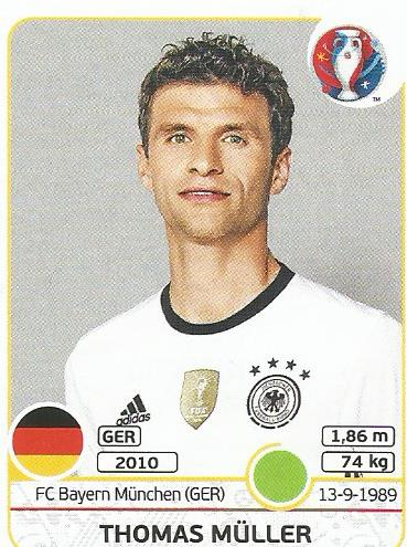 Thomas Müller - Germany - Euro 2016 sticker