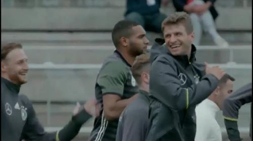 Thomas Müller - Letztes Training in Evian vor dem zweiten Spiel 2