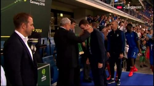 Hansi Flick at U19 EM2016 Final - Trophy Presentation 6