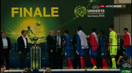 Hansi Flick at U19 EM2016 Final - Trophy Presentation 7