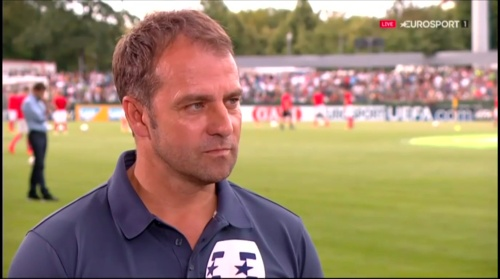 Hansi Flick interivew - Österreich v Deutschland (U19 EM 2016) 1
