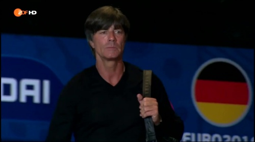 Joachim Löw – Deutschland v Frankreich 1st half (EM 2016) 1