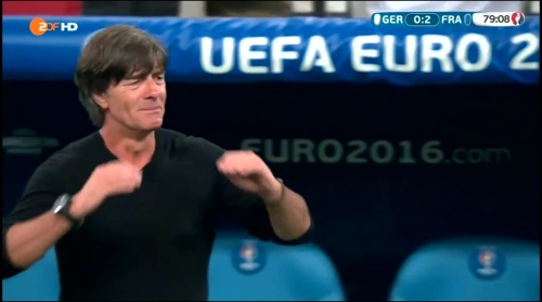Joachim Löw – Deutschland v Frankreich 2nd half (EM 2016) 12
