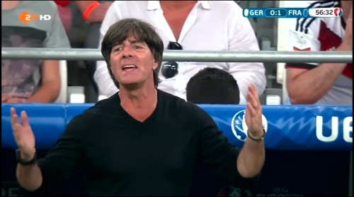 Joachim Löw – Deutschland v Frankreich 2nd half (EM 2016) 2