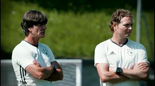 Joachim Löw & Marcus Sorg - Abschlusstraining vor Italien-Spiel in Évian