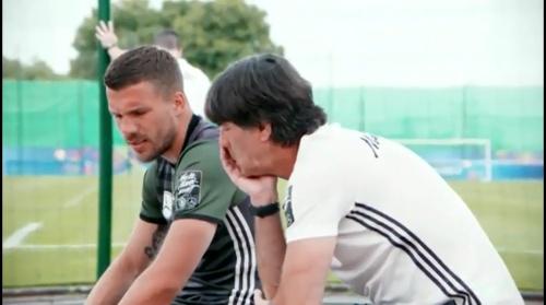Lukas Podolski & Joachim Löw – Das vorletzte Training in Evian