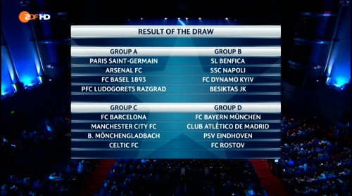Champions League group-stage draw 2016-17 1