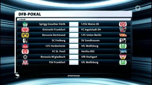 DFB Pokal 2nd round draw 2016-17 2