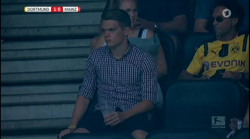 Matthias Ginter at Dortmund v Mainz 16-17 1