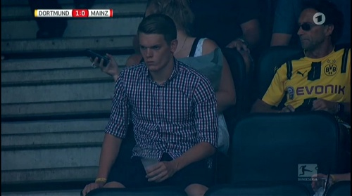 Matthias Ginter at Dortmund v Mainz 16-17 2