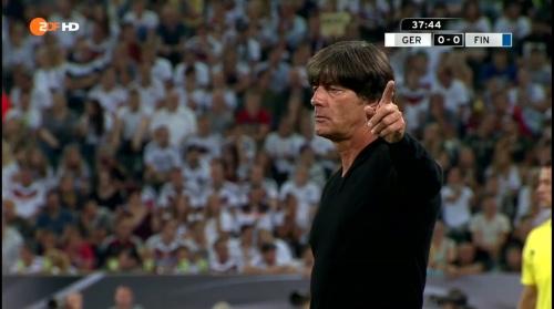 Joachim Löw – Deutschland v Finnland first half 11