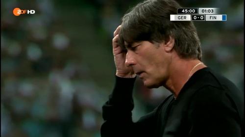 Joachim Löw – Deutschland v Finnland first half 13