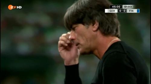 Joachim Löw – Deutschland v Finnland first half 14