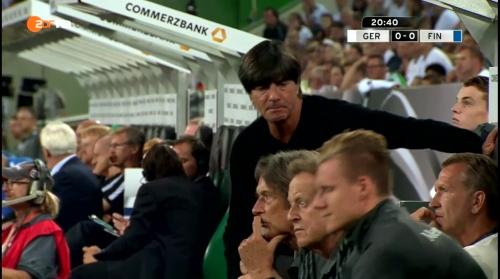Joachim Löw – Deutschland v Finnland first half 6