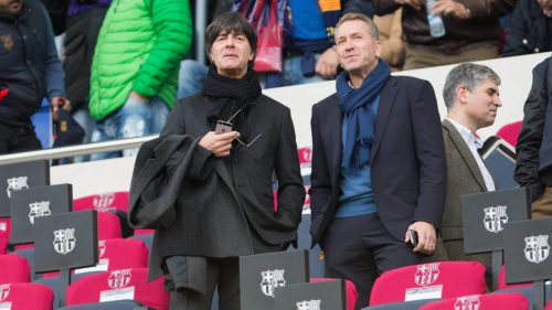 Joachim Löw and Andreas Köpke during spanish La Liga match between Futbol Club Barcelona and Real Madrid at Camp Nou Stadium in Barcelona , Spain. Decembe r03, 2016. PUBLICATIONxINxGERxSUIxAUTxPOLxDENxNORxSWExONLY (20161203002) Joachim Loew and Andreas Köpke during Spanish La League Match between Futbol Club Barcelona and Real Madrid AT Camp Nou Stage in Barcelona Spain Decembe 2016 PUBLICATIONxINxGERxSUIxAUTxPOLxDENxNORxSWExONLY