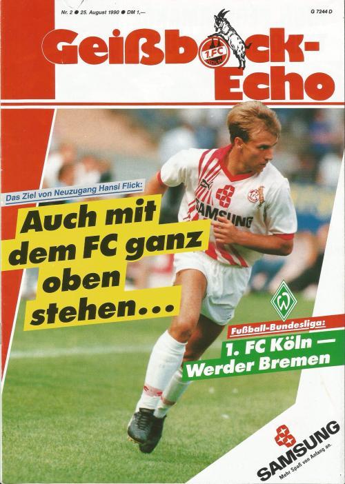 hansi-flick-cologne-v-bremen-1990-programme-1