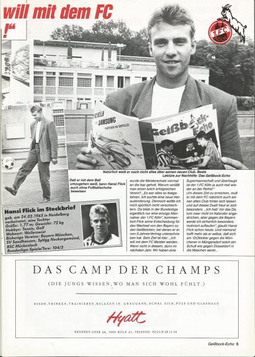 hansi-flick-cologne-v-bremen-1990-programme-3