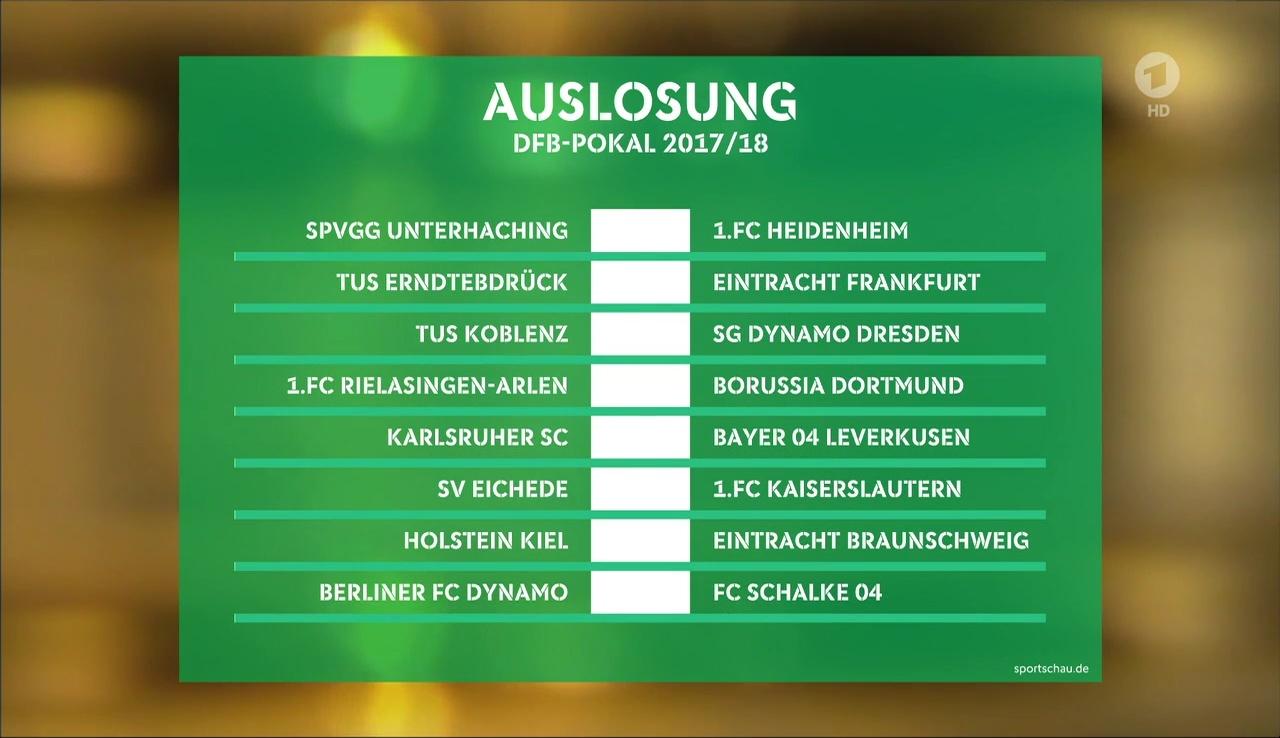 Auslosung Dfb Pokal 1. Runde